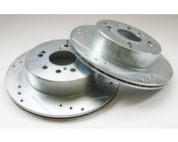 SUBARU BRZ / SCION FR-S rear rotors drilled and slotted