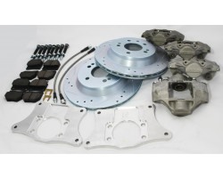 240sx dual 300zx caliper brake upgrade with dedicated hydraulic handbrake caliper.