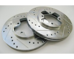 Drilled, Slotted and Vented Rotor (stage 4) Front kit toyota caliper 300zx rotor