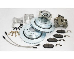 Stage 4 Rear Big Brake Upgrade Kit for datsun  240Z, 260Z, 280Z with emergency brake! fits 15 inch wheels!