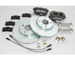 Datsun 510 front Wilwood brake upgrade kit fits sedan and wagon models - smaller 10 inch rotors - fits 14 inch wheels easy