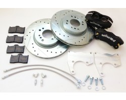 Datsun 510 rear Wilwood brake upgrade kit 4 piston caliper