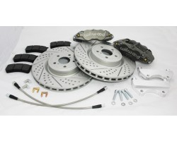 Nissan 350z g35 front wilwood brake upgrade kit with 6 piston calipers / 14 inch rotors 2003 - 2009 z33