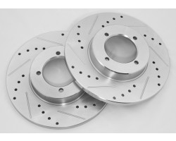 Datsun 240z, 260z, and 280z Drilled and Slotted Rotor stage 3 kit stock