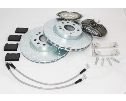 SILVER MINE MOTORS 240Z 260Z 280Z rear WILWOOD 4 PISTON BRAKE UPGRADE KIT with emergency brake function FITS s30