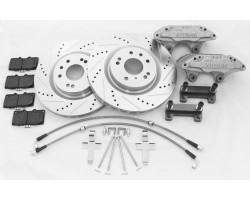 240sx Front Track Edition Big Brake Kit 350z brembo rotors with 300zx calipers
