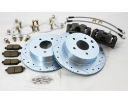 NISSAN 350Z Infinity G35 REAR DUAL CALIPER BRAKE UPGRADE KIT WITH DEDICATED HYDRAULIC CALIPER EMERGENCY BRAKE DRIFT Z33