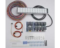 complete car body wiring, relay system with 12 Switch Flat Touch Control Panel  ARC - Auto Rod Controls kit