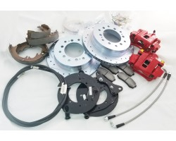 2000-2006 TOYOTA TUNDRA 6 lug REAR DISC CONVERSION brake upgrade swap kit Backing Plate with e-brake