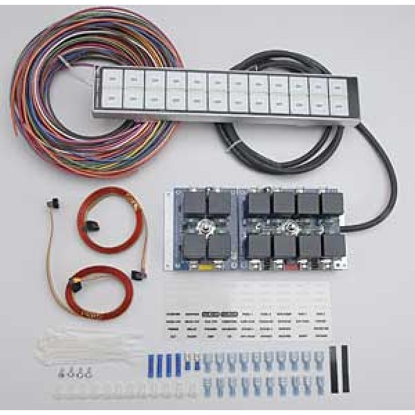 Complete Car Body Wiring  Relay System With 12 Switch Flat Touch Control Panel Arc